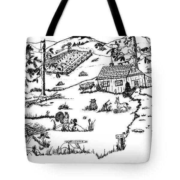 Arlenne's Idyllic Farm Tote Bag by Daniel Hagerman