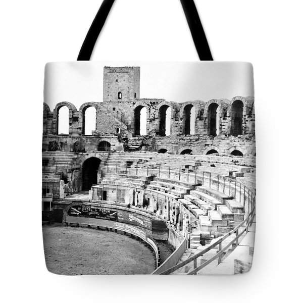 Arles Amphitheater A Roman Arena In Arles - France - C 1929 Tote Bag by International  Images