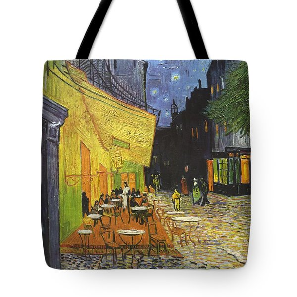 Arles Cafe Terrace At Night Tote Bag