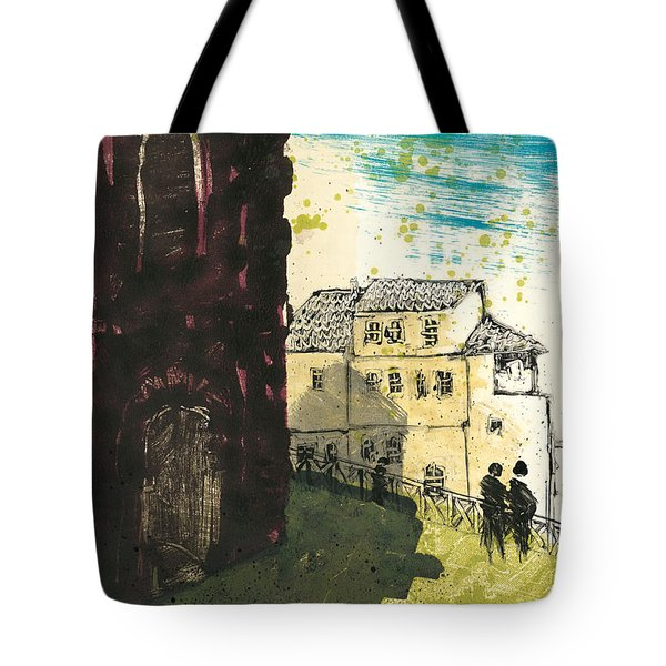Tote Bag featuring the painting Arles Near Arena Provence by Martin Stankewitz