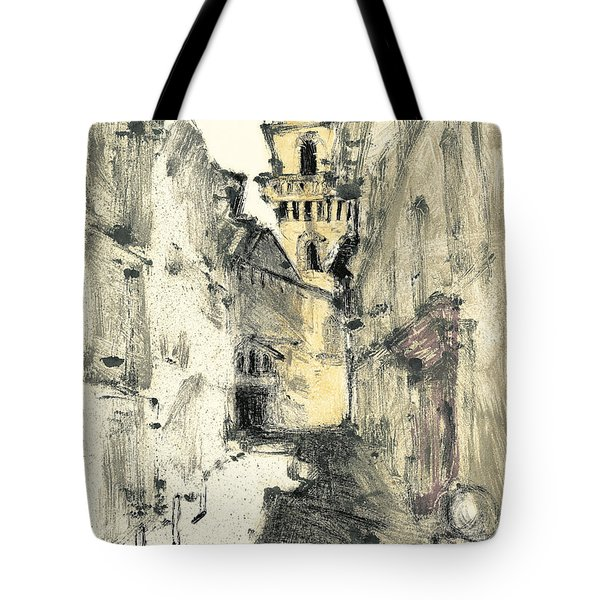 Tote Bag featuring the painting Arles Provence by Martin Stankewitz