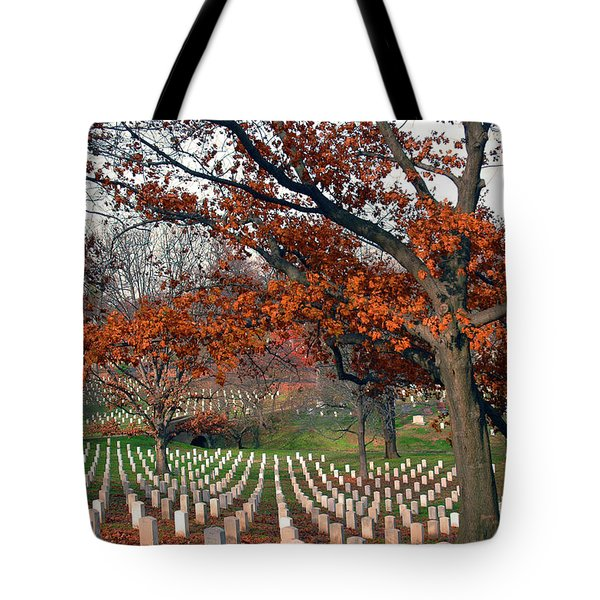 Arlington Cemetery In Fall Tote Bag