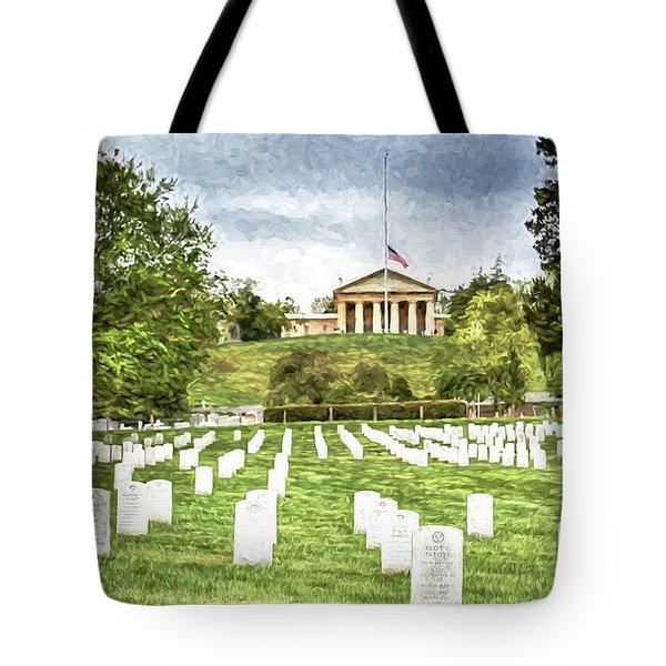 Arlington House Half Mast  Tote Bag