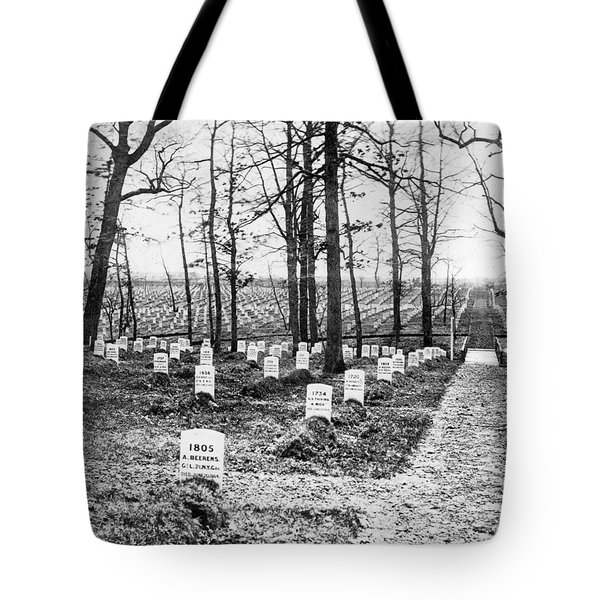 Arlington National Cemetery - C 1867 Tote Bag by International  Images