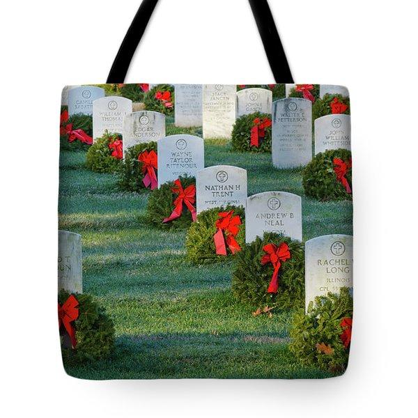 Arlington National Cemetery At Christmas Tote Bag