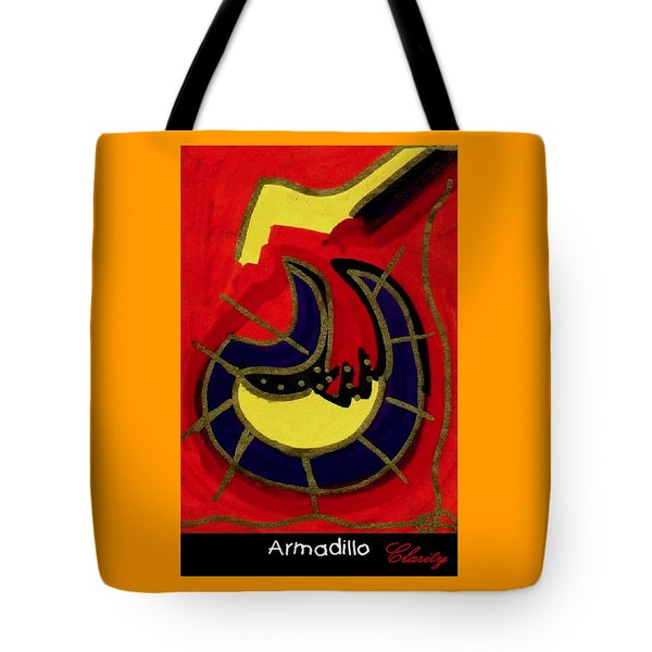 Tote Bag featuring the painting Armadillo by Clarity Artists