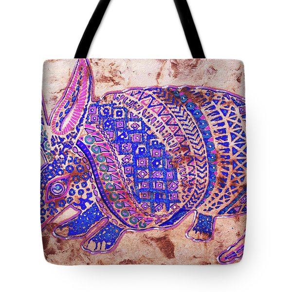 Tote Bag featuring the painting Armadillo by J- J- Espinoza