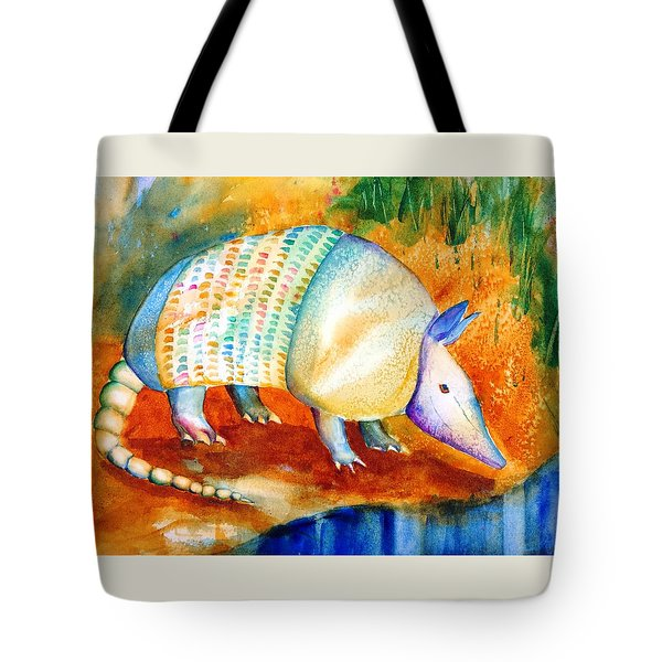 Armadillo Reflections Tote Bag by Carlin Blahnik