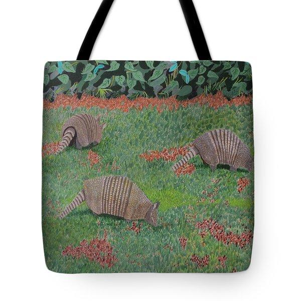 Armadillos In The Yard Tote Bag