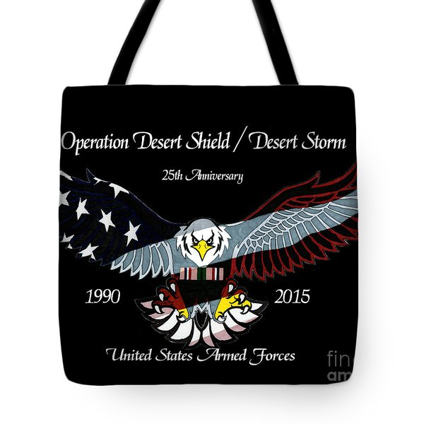 Armed Forces Desert Storm Tote Bag by Bill Richards