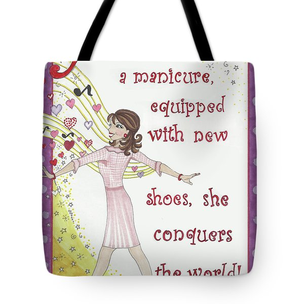 Armed With A Manicure Tote Bag