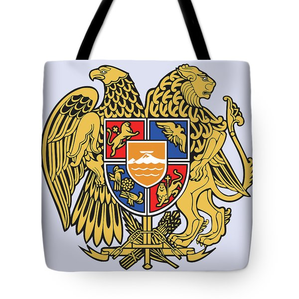 Tote Bag featuring the drawing Armenia Coat Of Arms by Movie Poster Prints