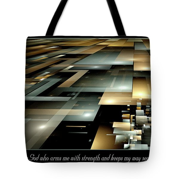 Tote Bag featuring the digital art Arms Me With Strength by Missy Gainer