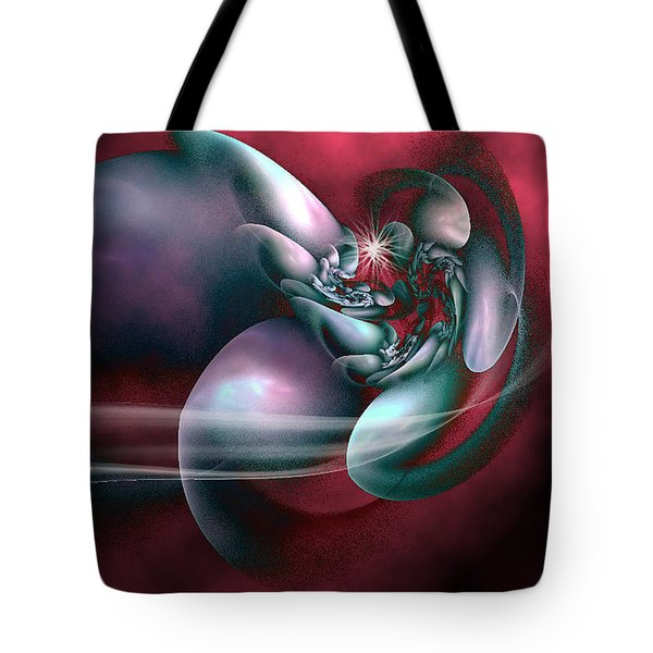 Tote Bag featuring the digital art Arms Of Inspiration by Holly Ethan