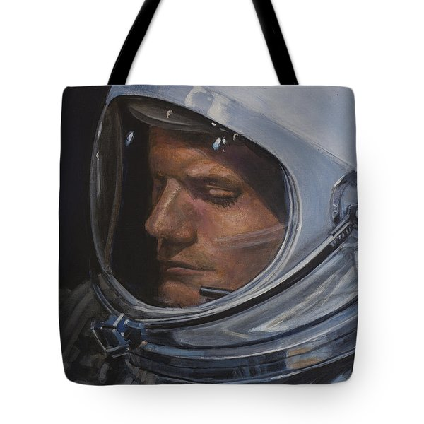 Armstrong- Gemini Viii Tote Bag by Simon Kregar