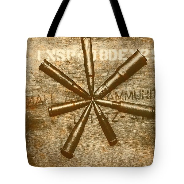 Army Star Bullets Tote Bag