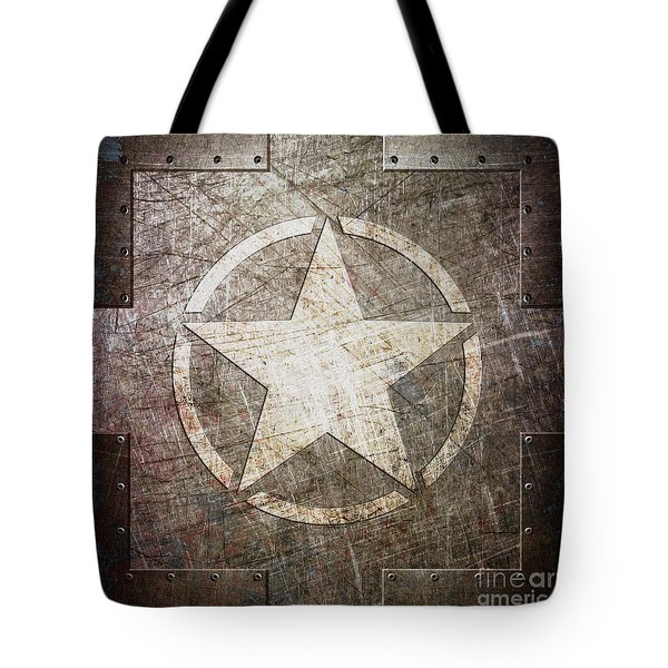 Army Star On Steel Tote Bag