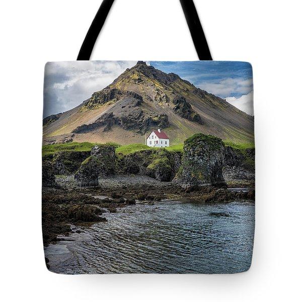 Arnarstapi House Tote Bag