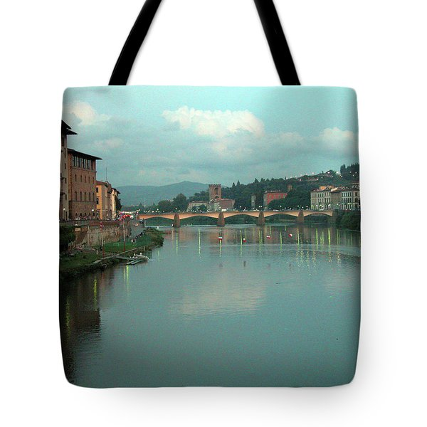 Tote Bag featuring the photograph Arno River, Florence, Italy by Mark Czerniec