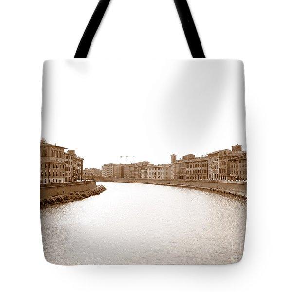 Arno River In Pisa Tote Bag