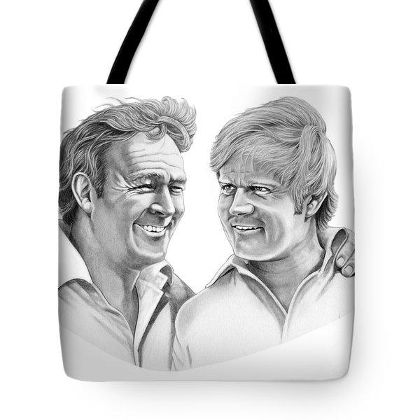 Arnold Palmer-jack Nicklaus Tote Bag by Murphy Elliott