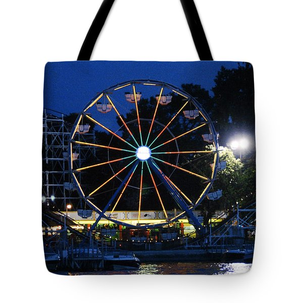 Arnolds Park At Night Tote Bag
