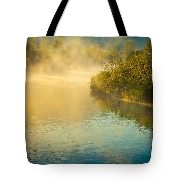 Tote Bag featuring the photograph Around The Bend by Don Schwartz