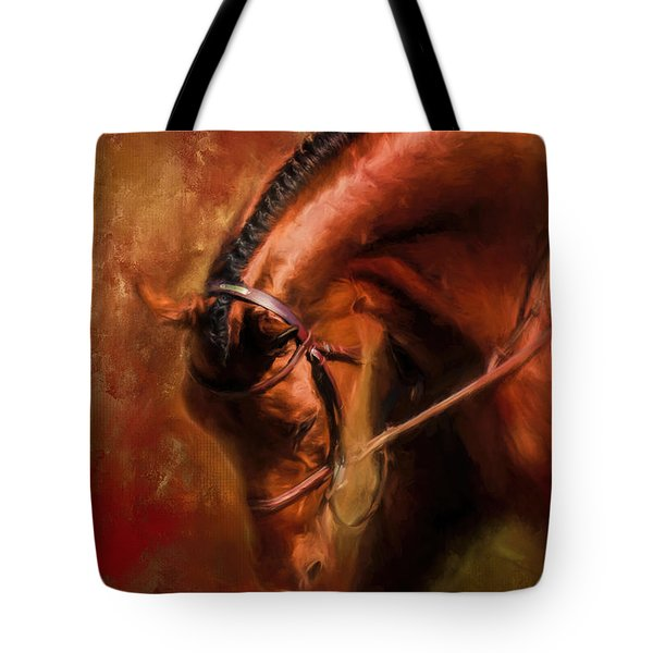 Around The First Turn Equestrian Art Tote Bag
