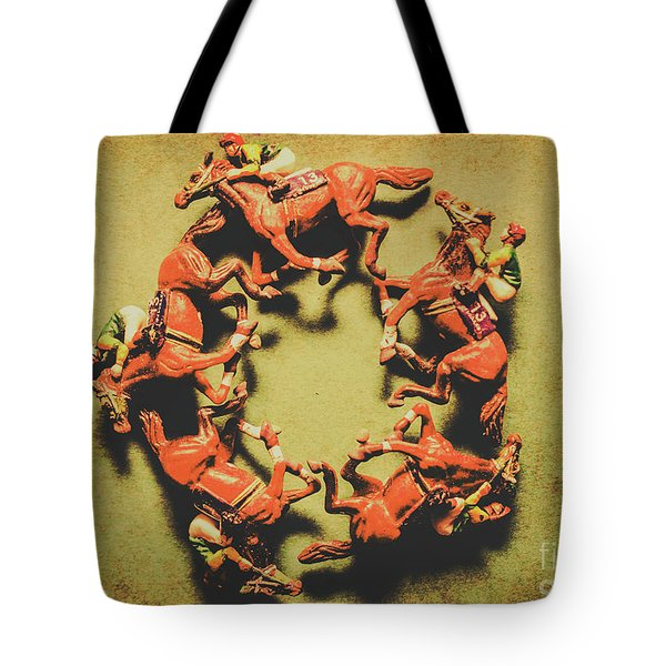 Around The Racetrack Tote Bag