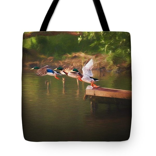 Around The River Tote Bag
