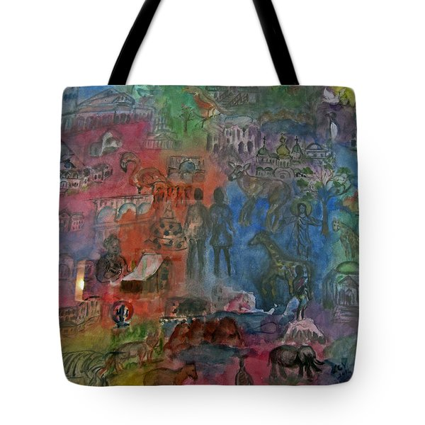 Around The World Tote Bag