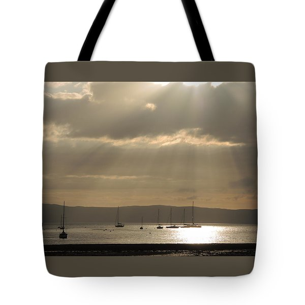 Arran Golden Sunset Tote Bag by Sally Ross