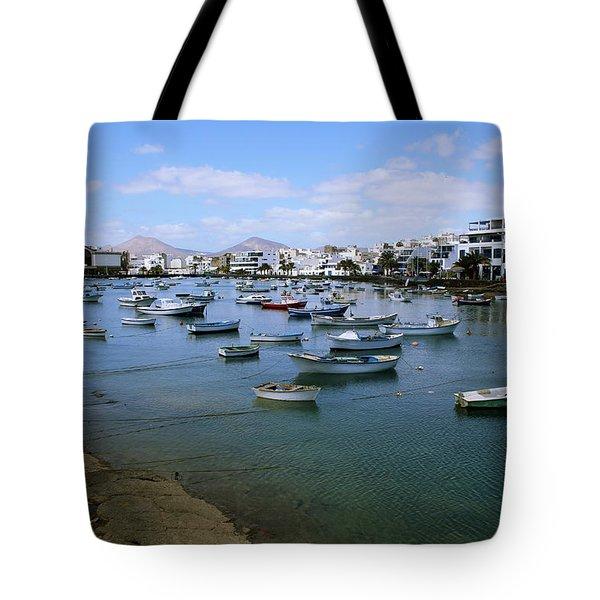 Arrecife - Lanzarote Tote Bag by Cambion Art