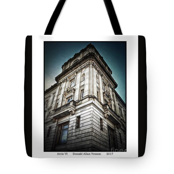 Arris Vi Tote Bag by Donald Yenson