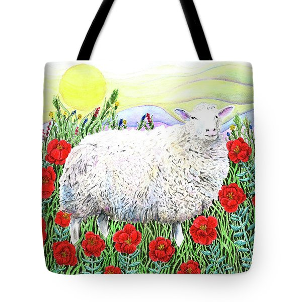 Tote Bag featuring the painting Arrival Of The Hummingbirds by Lise Winne