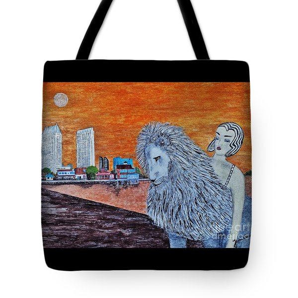 Tote Bag featuring the painting Arrival To San Diego by Jasna Gopic