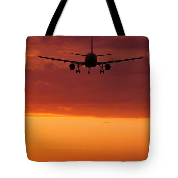 Arriving At Day's End Tote Bag