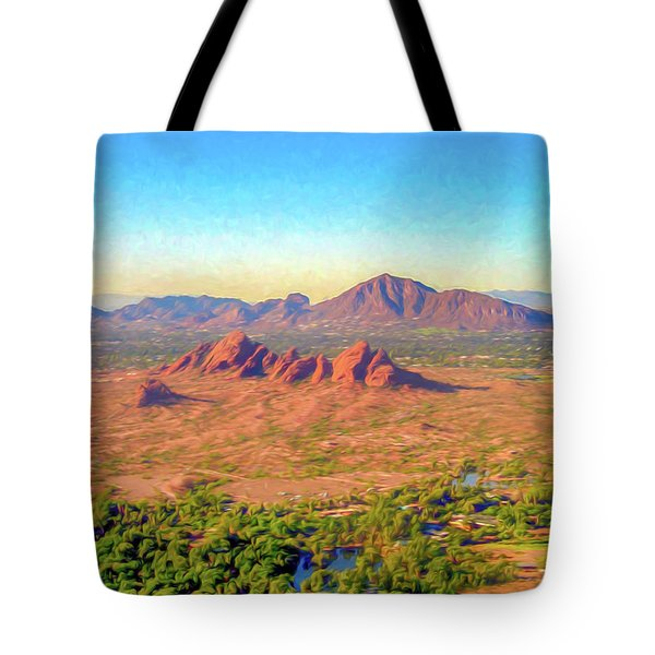 Arriving In Phoenix Digital Watercolor Tote Bag