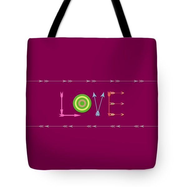 Arrow Love - Changeable Background Color Tote Bag