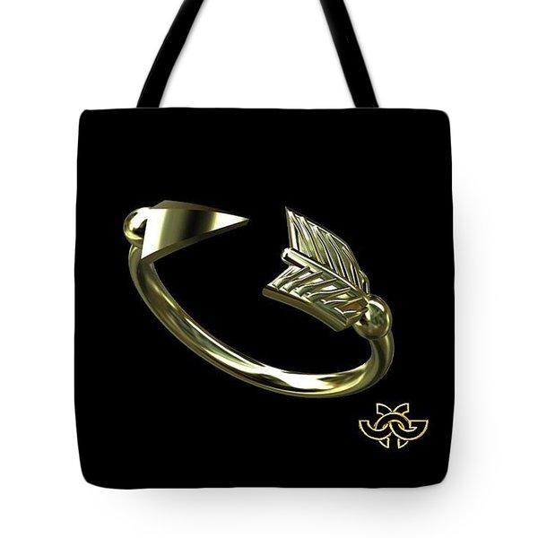 Arrow On Black For Julie Tote Bag