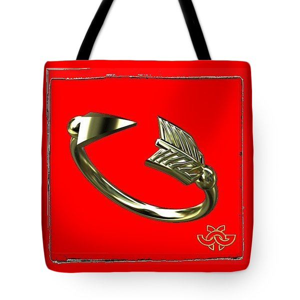 Arrow On Red Tote Bag