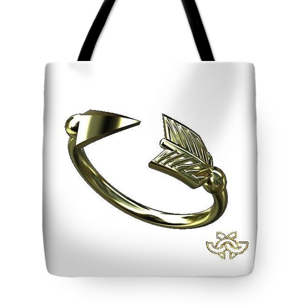 Arrow On White For Julie Tote Bag