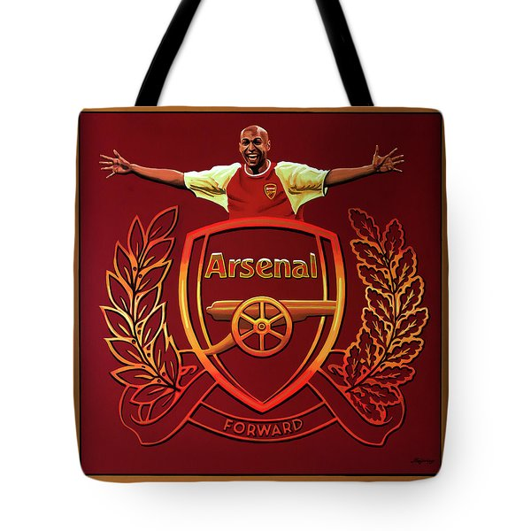 Arsenal London Painting Tote Bag