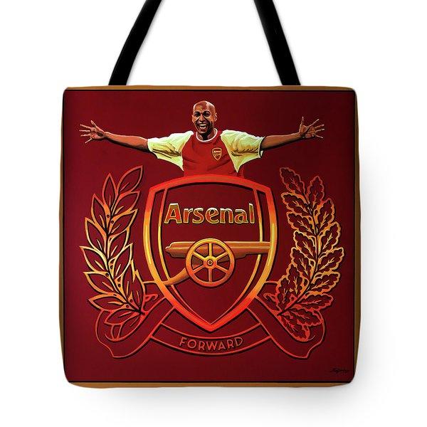 Arsenal London Painting Tote Bag