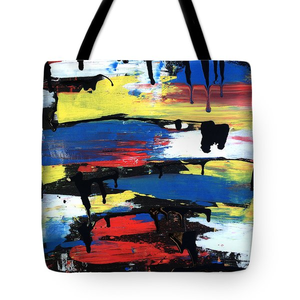 Art Abstract Painting Modern Black Tote Bag