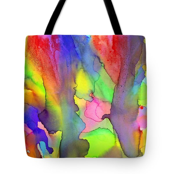 3 Art Abstract Painting Modern Color Signed Robert R Erod Tote Bag