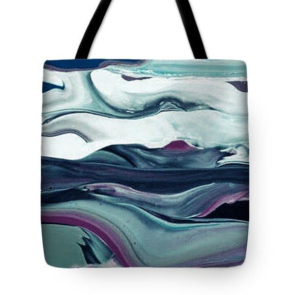 Tote Bag featuring the painting Art Abstract by Sheila Mcdonald