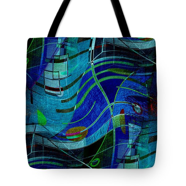 Tote Bag featuring the digital art Art Abstract With Culture by Sheila Mcdonald