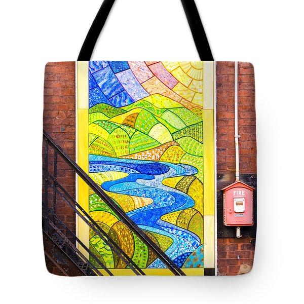 Art And The Fire Escape Tote Bag