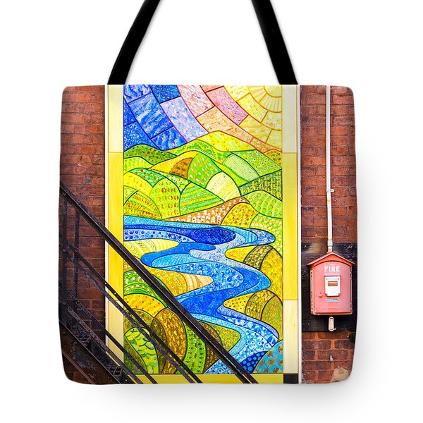 Art And The Fire Escape Tote Bag